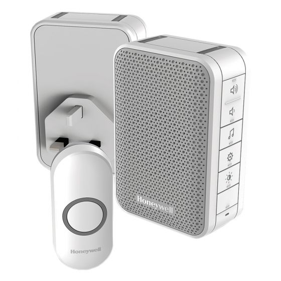 Image of Honeywell DC313NHGBS Wireless Portable and Plug In Doorbell 150M
