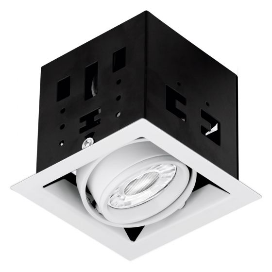 Image of Aurora Enlite ENMGU101MW Single Adjustable GU10 Downlight Matt White