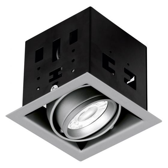 Image of Aurora Enlite ENMGU101SS Single Adjustable GU10 Downlight Satin Silver