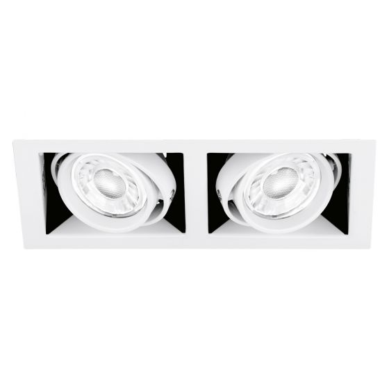 Image of Aurora Enlite ENMGU102MW Twin Adjustable GU10 Downlight Matt White