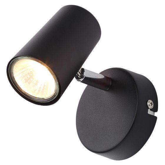 Image of Inlight Harvey GU10 Single Spotlight Wall Light Black