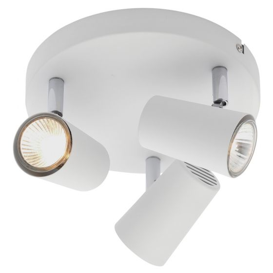 Image of Inlight Harvey GU10 Triple Spotlight Ceiling Light White