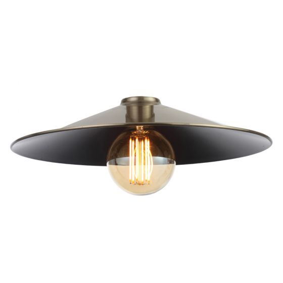 Image of Inlight Rigel Wide Fisherman's Pendant Shade Antique Brass