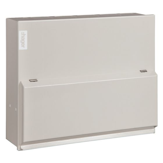 Image of Hager VML106 Main Switch Incomer Consumer Unit 6 Way 100A DP MS