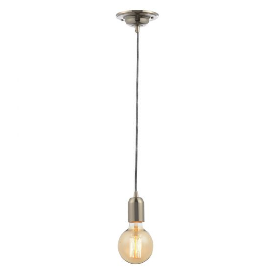 Inlight Decorative Pendant E27 Nickel Lampholder Herringbone Cable