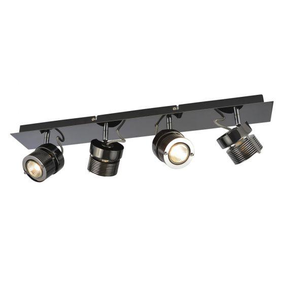 Image of Inlight Pedro Quad Bar GU10 Indoor Spotlight Black Chrome Steel