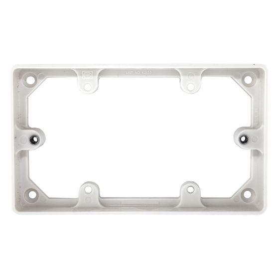 Image of MK Logic K2134WHI Trunking Mounting Frame 1 Gang 20mm Round Corner White