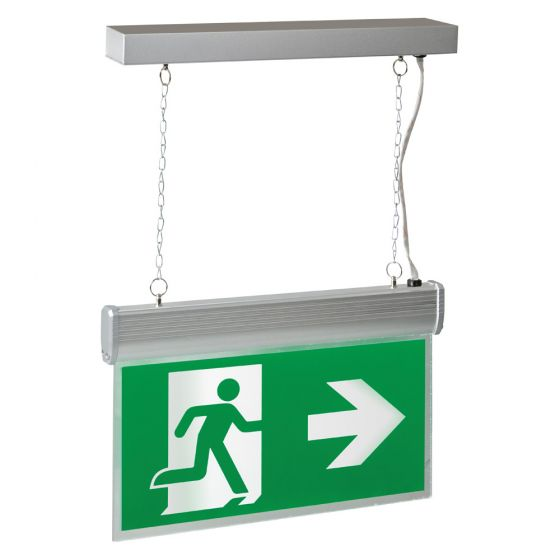 Image of Robus LED 4W LED Suspended Emergency Exit Sign Maintained/Non-Maintained