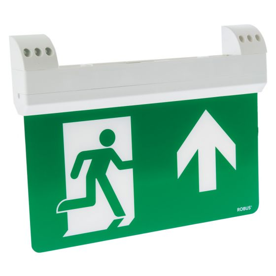 Image of Robus LED 1.5W LED Emergency Blade Exit Sign Maintained IP20