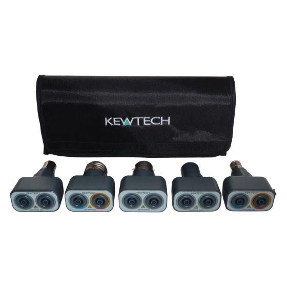 Image of Kewtech LIGHTMATEKIT Lighting Circuit Adaptor Test Kit 5 Piece