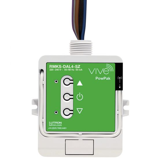 Image of Lutron Vive RMKS-DAL4-SZ PowPak DALI Single Circuit Module 4 fittings