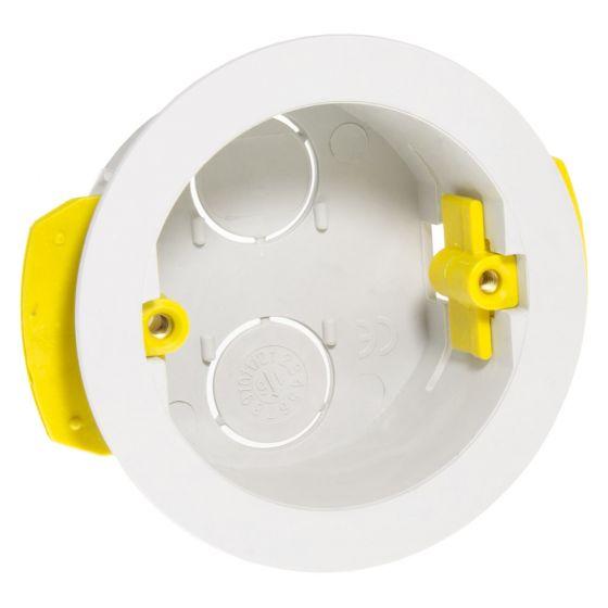 Image of Appleby SB639 Round Dry Lining Box 35mm Deep White