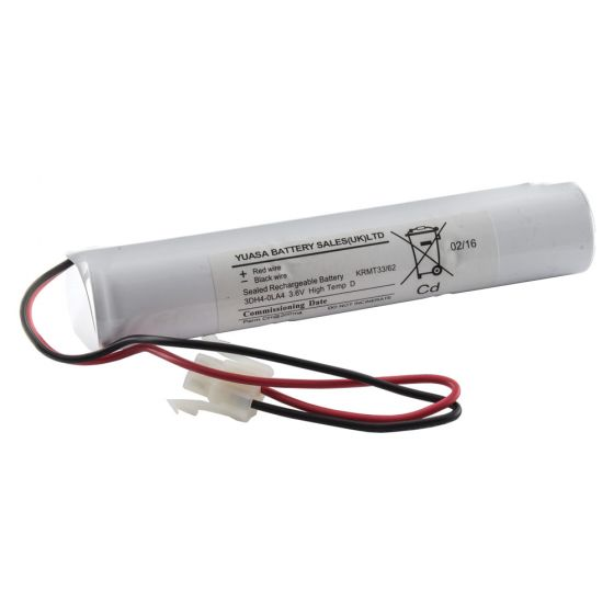Image of Emergency Lighting Battery 3 Cell Stick 3.6V 4aH Lead and Connector