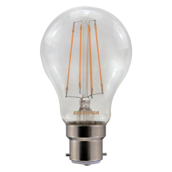 Image of Sylvania 7W BC (B22) LED Filament GLS Light Bulb Warm White 2700K