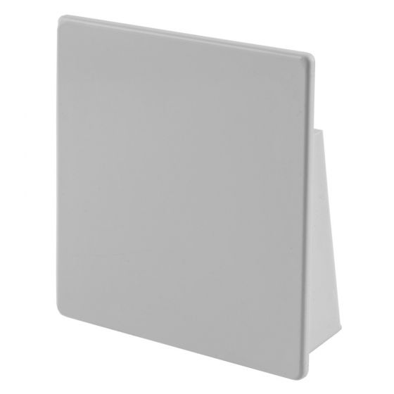 Image of Marshall Tufflex TECS100WH 100x100mm End Cap White Plastic Trunking