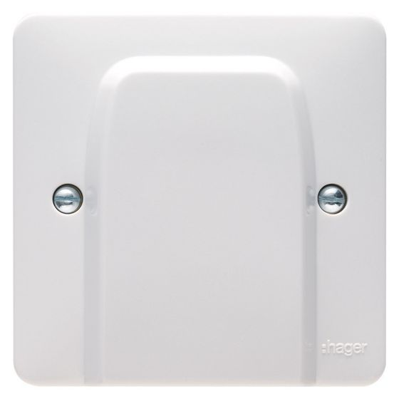Image of Hager Sollysta WMP2FO Flex Outlet Plate 20A White