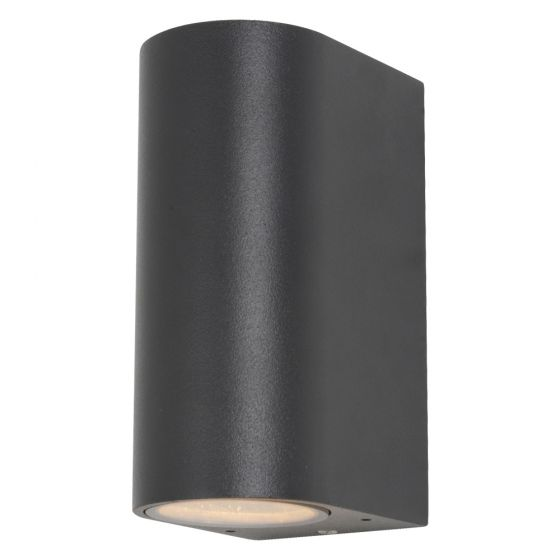 Image of Forum Zinc Antar Outdoor Wall Light GU10 Up and Down Black Steel