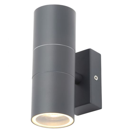 Image of Forum Zinc Leto Outdoor Wall Light GU10 Up and Down Anthracite Steel