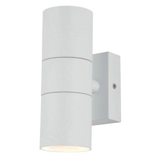 Image of Forum Zinc Leto Outdoor Wall Light GU10 Up and Down White Steel