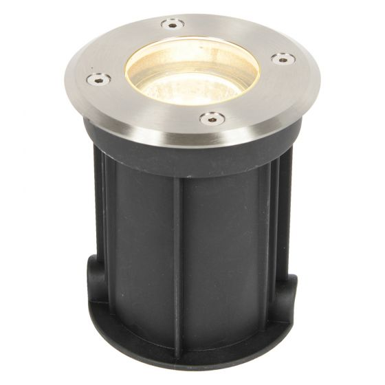 Image of Forum Zinc Outdoor Drive Over Light GU10 Brushed Satin Steel