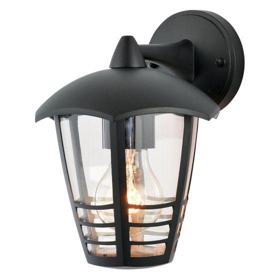 Image of Forum Zinc Perdita Outdoor Wall Lantern Light ES (E27) Black