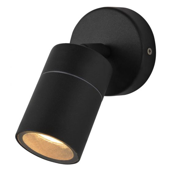 Image of Forum Zinc Leto Outdoor Wall Light GU10 Adjustable Spotlight Black