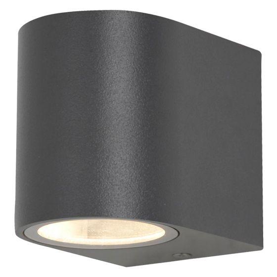 Image of Forum Zinc Antar Outdoor Wall Light GU10 Up or Down Black Aluminium