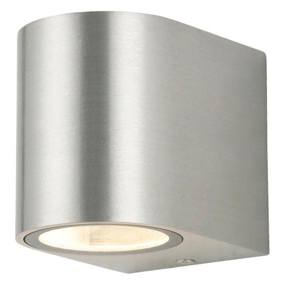 Image of Forum Zinc Antar Outdoor Wall Light GU10 Up or Down Steel Aluminium