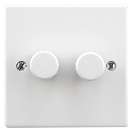 Image of Zano ZSP152 LED Dimmer 0-150W 2 Gang Double Plate White