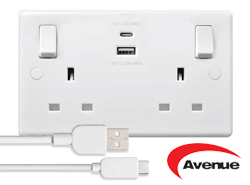 USB-C Twin Socket by Avenue