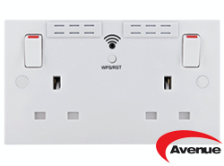 AVENUE WIFI EXTENDING TWIN SOCKET